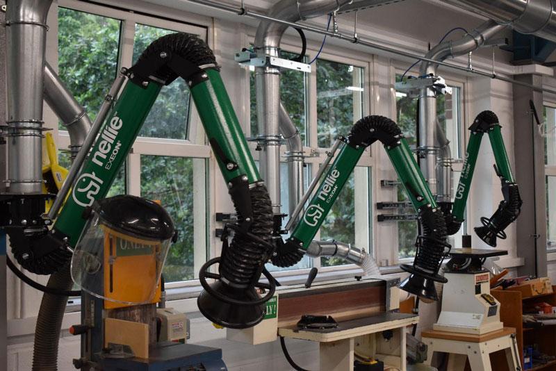 Workshop extraction arm